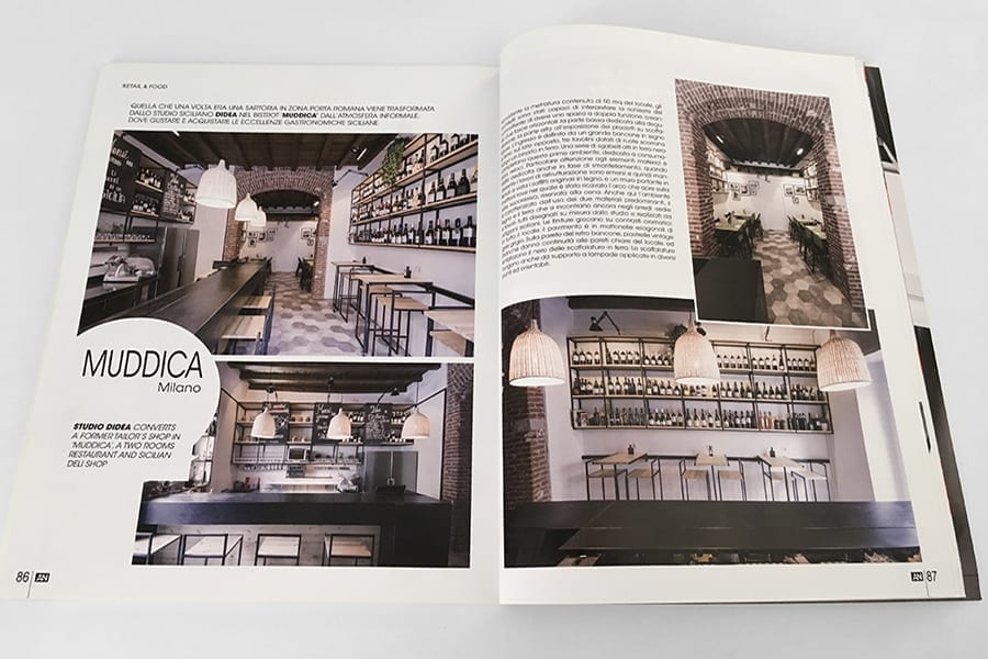 Studio didea muddica pubblicato su an magazine studio didea for L arreda negozi